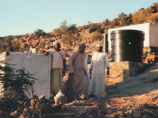 Potapak tank in Yemen village